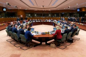 A Council of European Union meeting