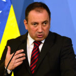 Minister Igor Crnadak in a joint press conference