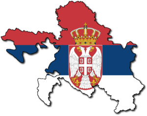 Republika Srpska's area and sigil