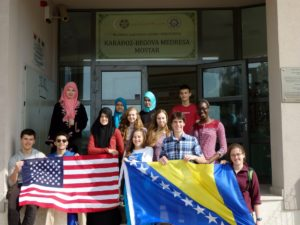 Students learning English so they can study abroad.